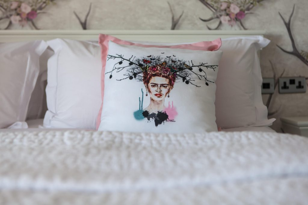 Guesthouse pillow, Dorset- Interior photographer