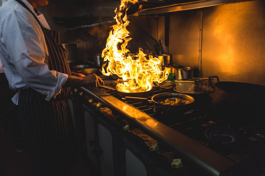 Cooking restaurant, Dorset - Food photographer
