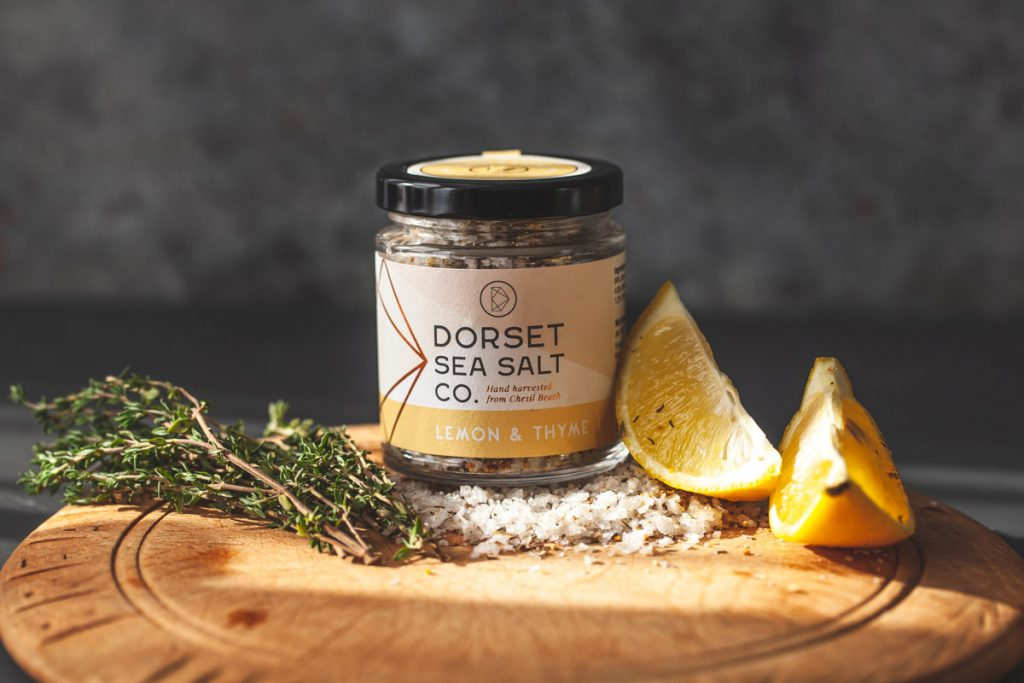 dorset sea salt - product photography