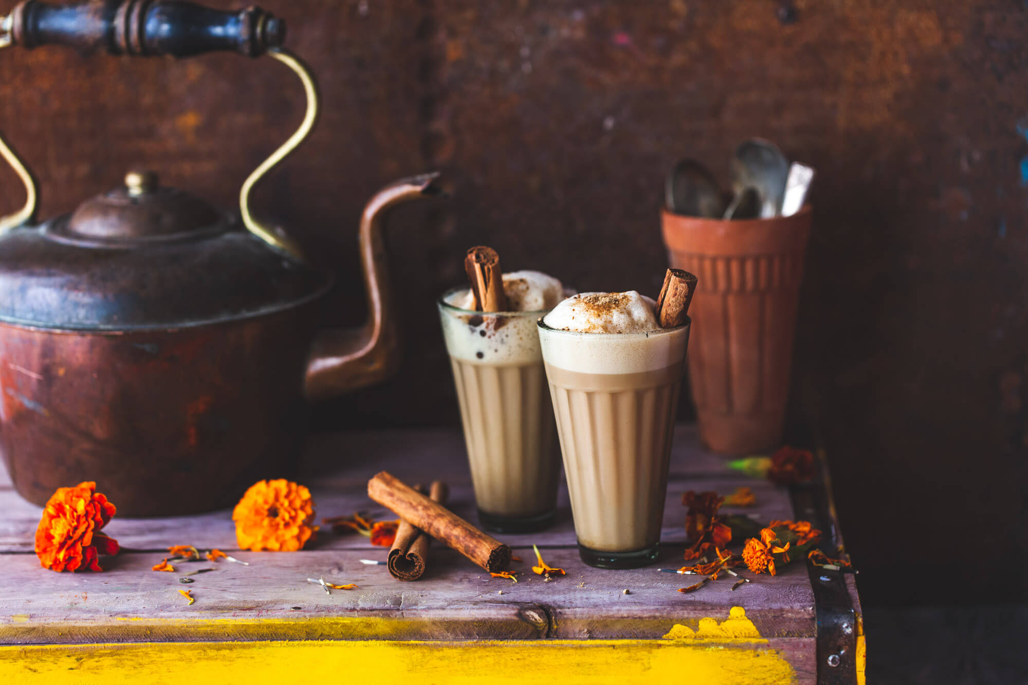 Food photography- chia latte- dorset