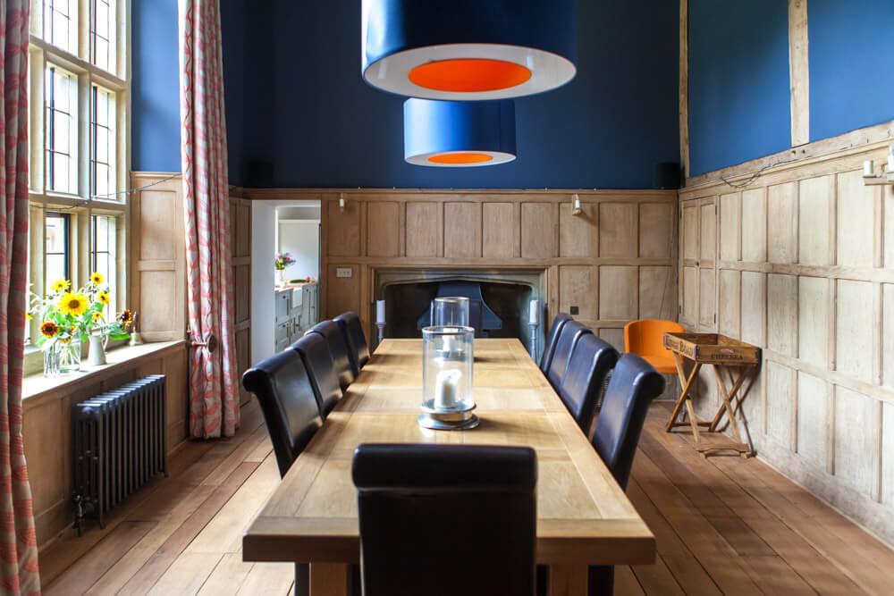 Interiors Photography Dorset-Lara Jane Thorpe- blue diningroom