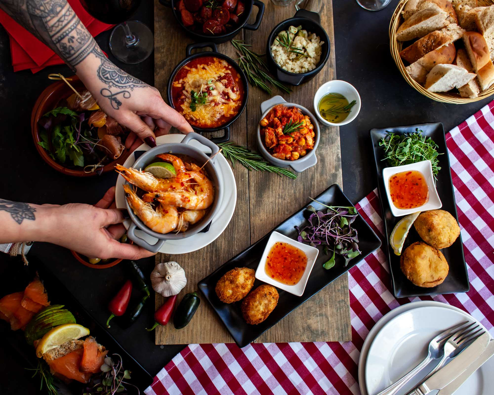 Lara Jane Thorpe-Tapas Crowsnest Restaurant- food photographer Dorset