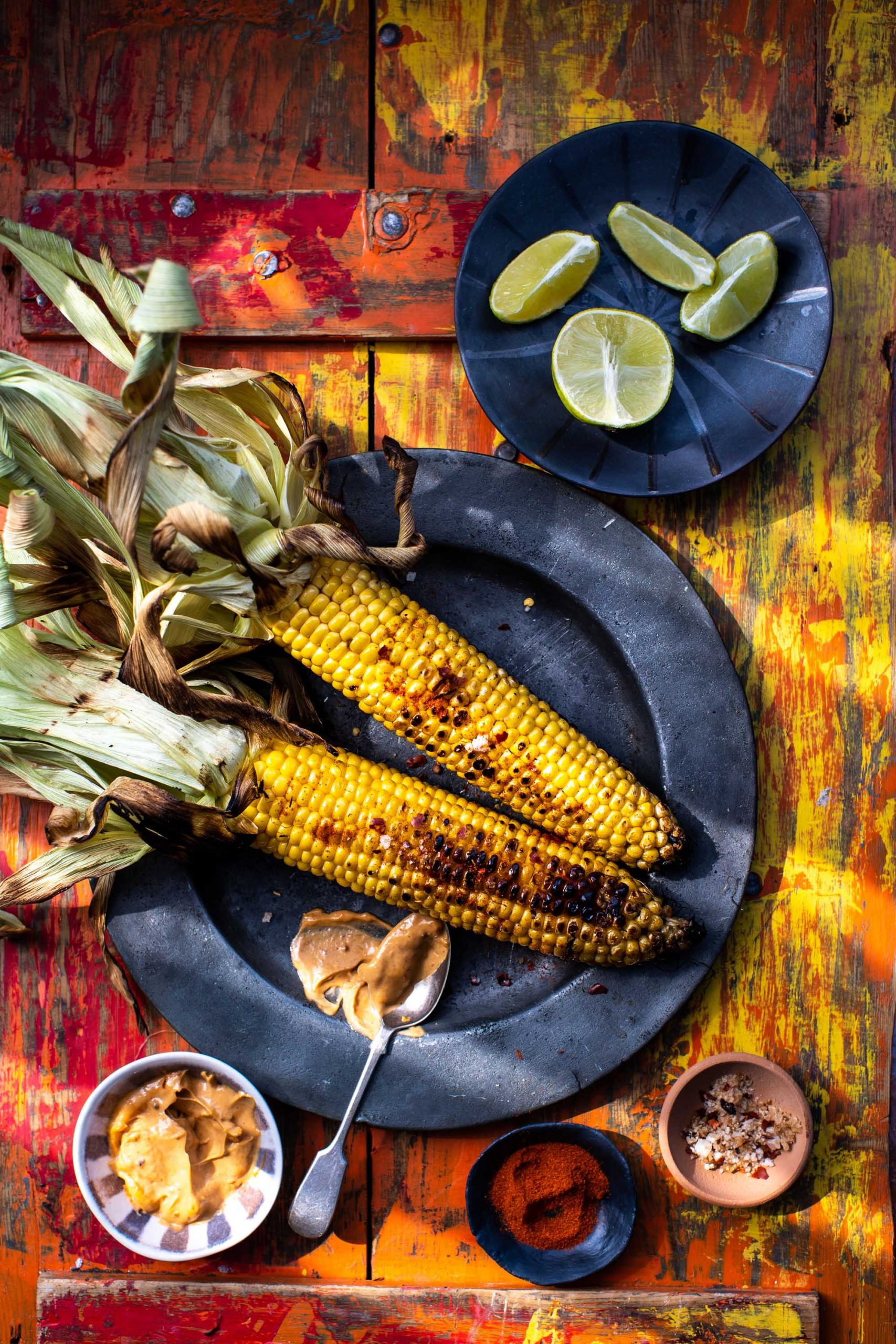 BBQ corn on the cob- Lara Jane Thorpe- Food photography Dorset