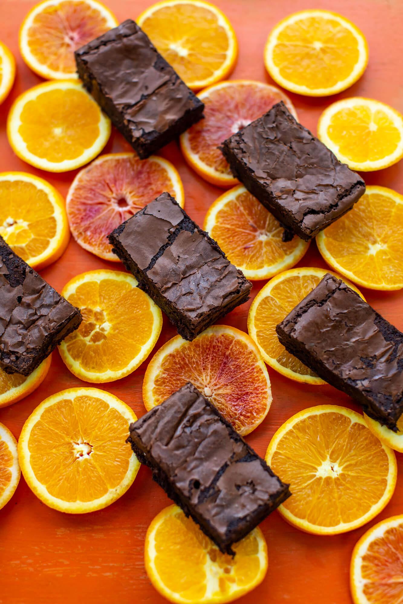 Lara Jane Thorpe-orange brownies- food photography Dorset