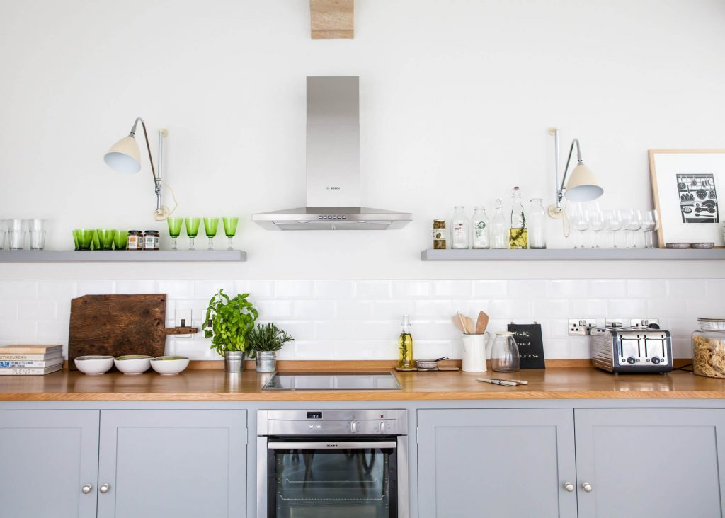 Lara Jane thorpe - commercial photography dorset -gray kitchen