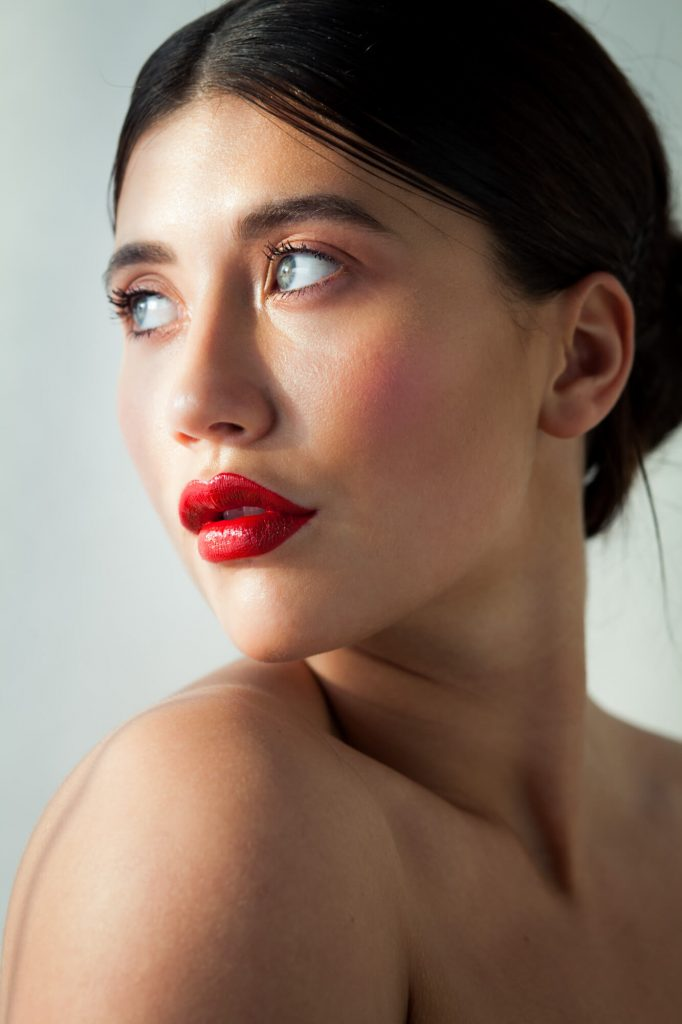 Red lips, Dorset- Beauty photographer