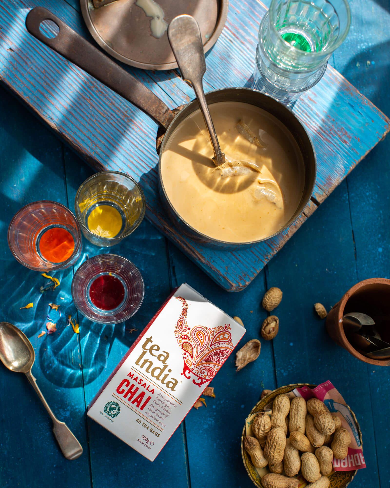 Tea India - chai Tea - Drink photography-Lara Jane Thorpe