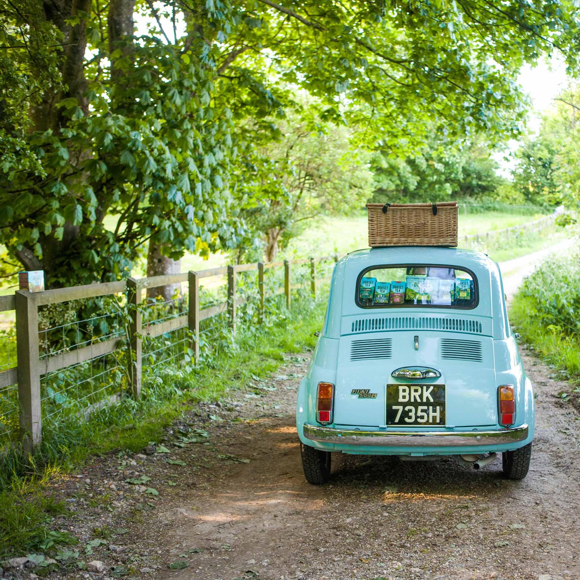 Tea fiat, Dorset- Lifestyle photographer