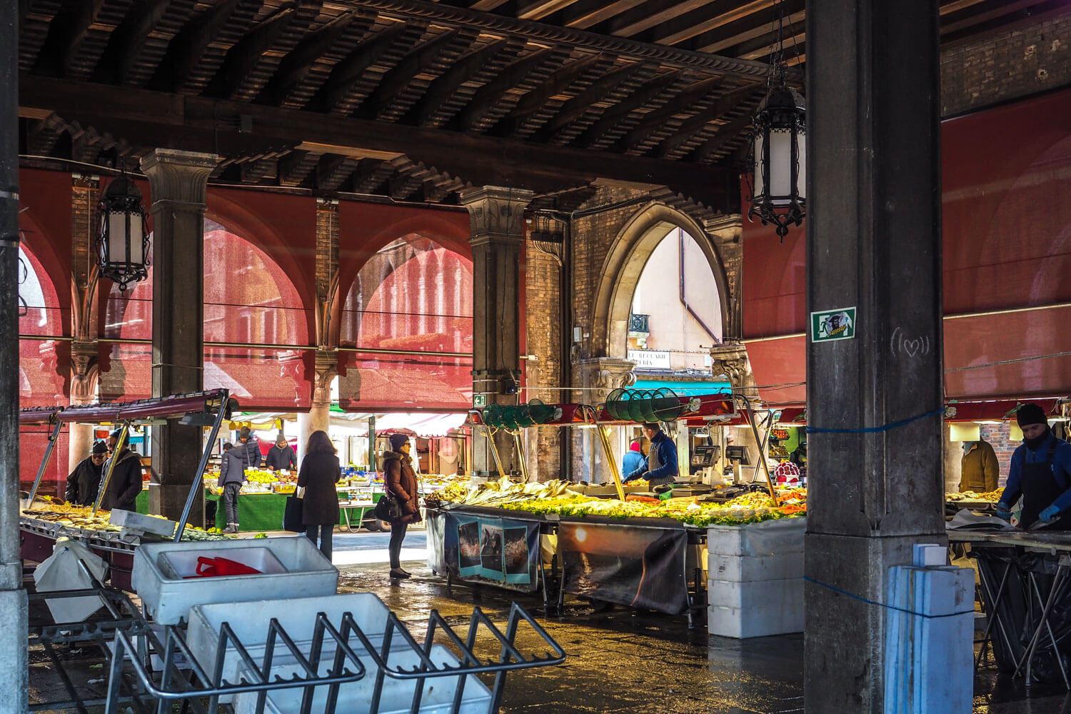Venice,fish market building, travel photography