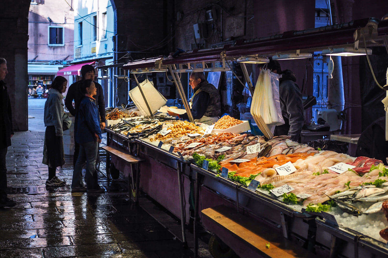 Venice,fish market, travel photography