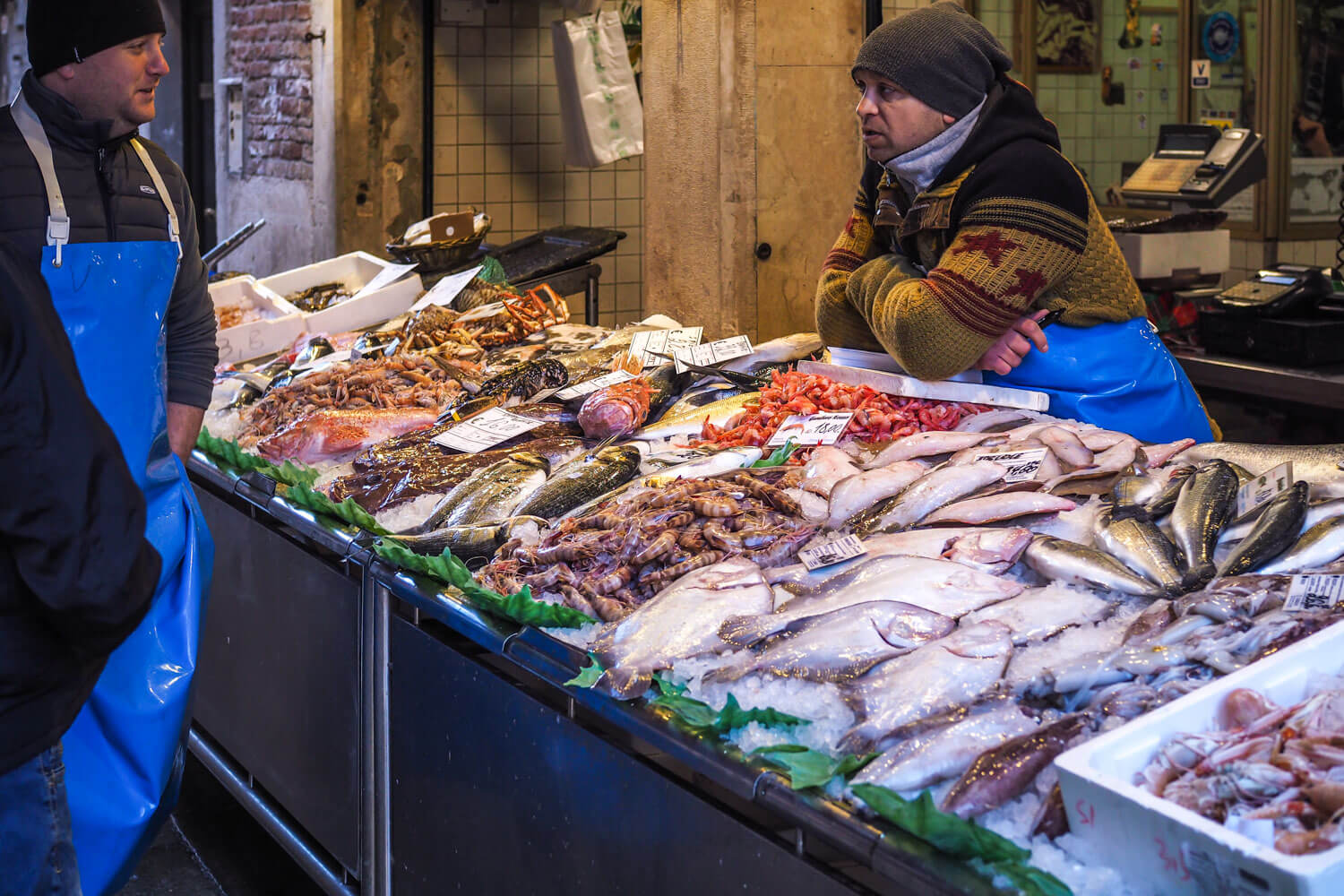 Venice,fish stall, travel photography