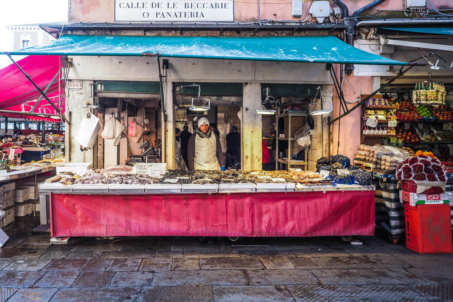 Venice,fish stall, travel photography2