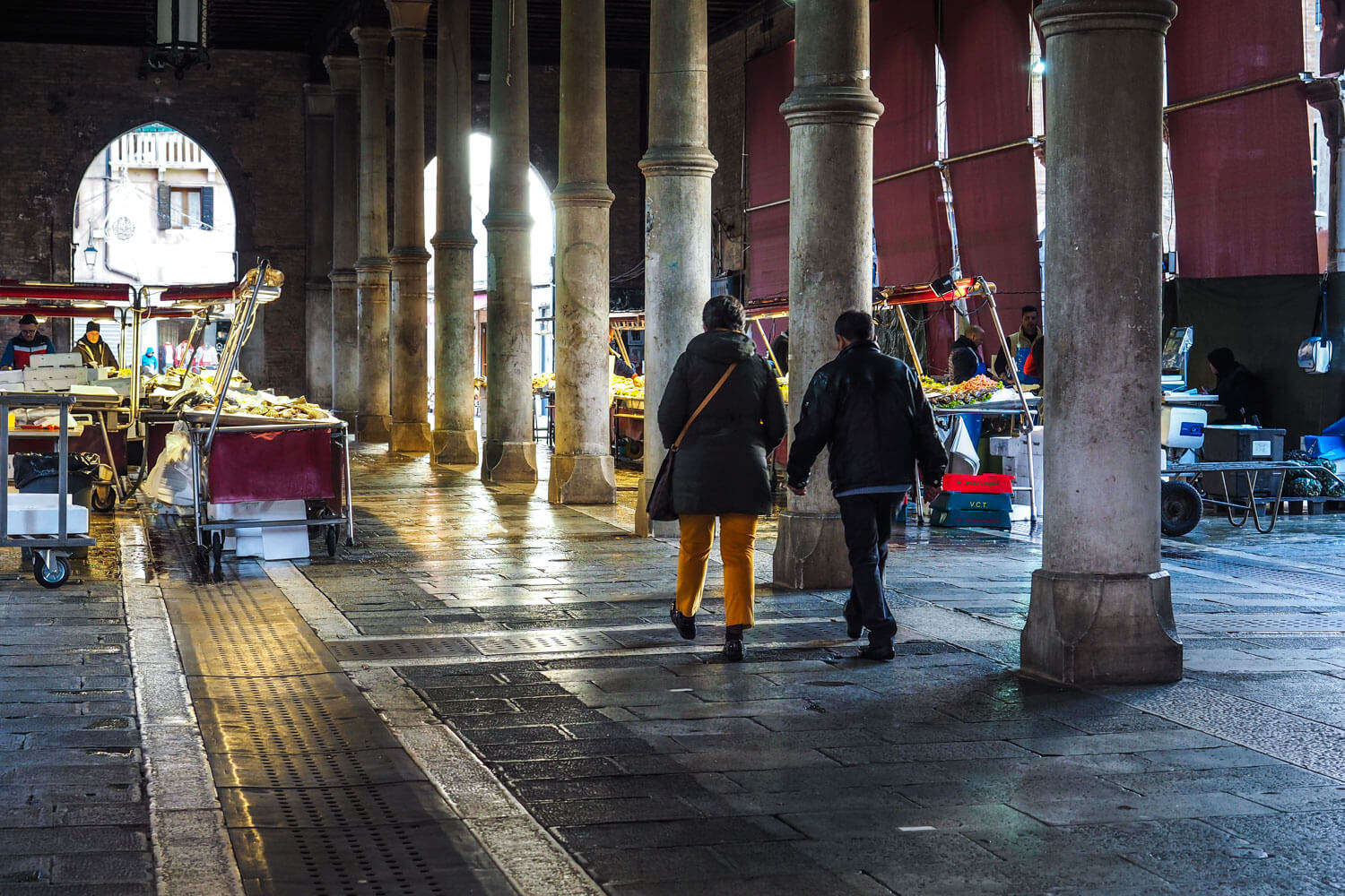 Venice,fish stalls, travel photography3