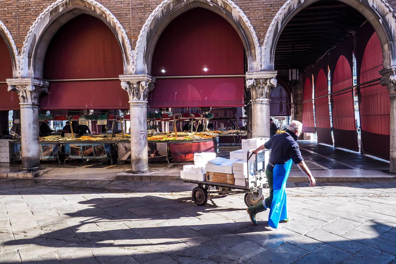 Venice,fishmarket set up, travel photography